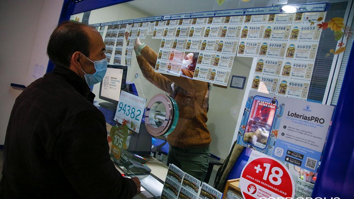 Una administración de lotería en Córdoba.