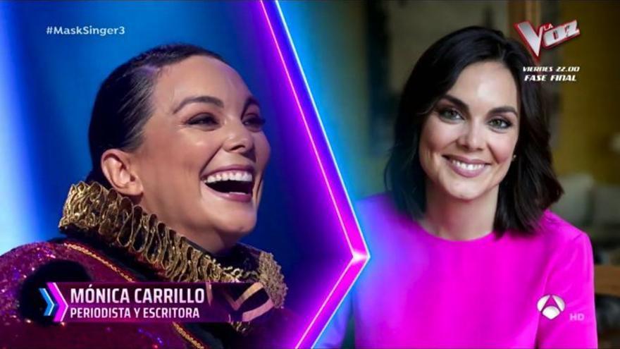 Mónica Carrillo era la primera invitada famosa, de 'Mask Singer'