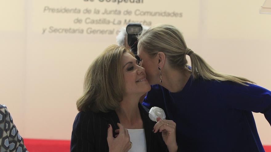 """Cospedal niega """"fricciones"""" por las listas y asegura que Aguirre y Cifuentes llevarán """"personas de su confianza"""""""