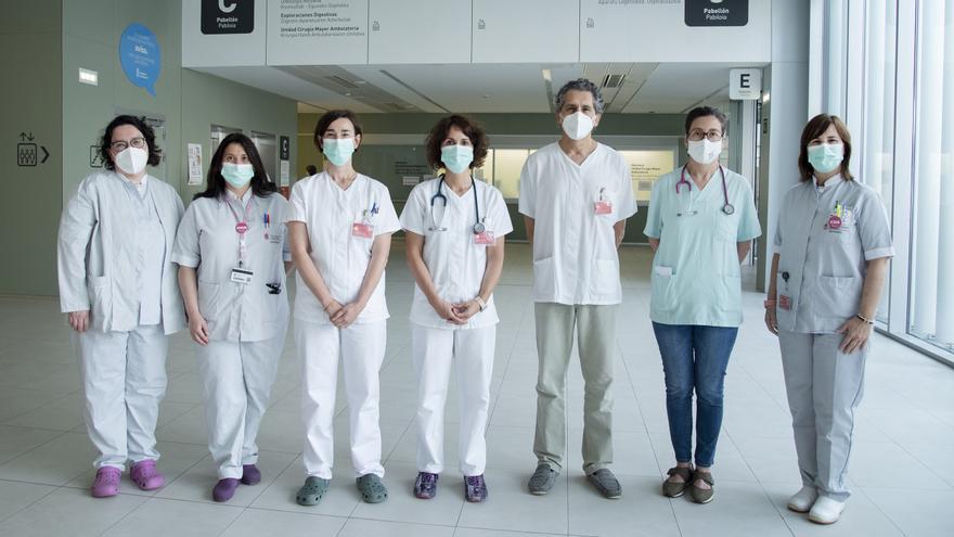 Miembros del equipo multidisciplinar de ELA del Complejo Hospitalario de Navarra