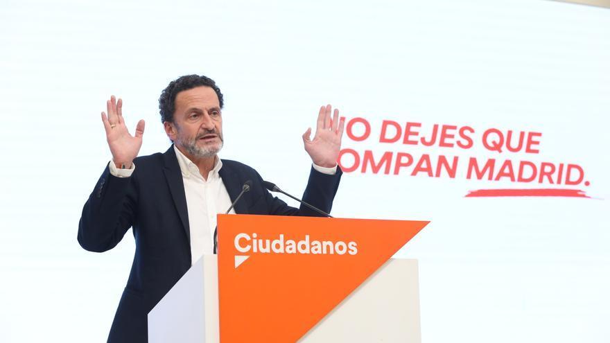 El candidato de Ciudadanos (Cs) a la presidencia de la Comunidad de Madrid, Edmundo Bal, durante una rueda de prensa, a 26 de abril de 2021, en Madrid.