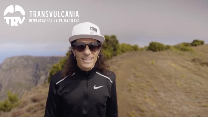 Captura del vídeo del regreso de Depa a la Transvulcania.