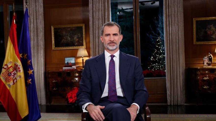 Felipe VI, durante su discurso de Navidad