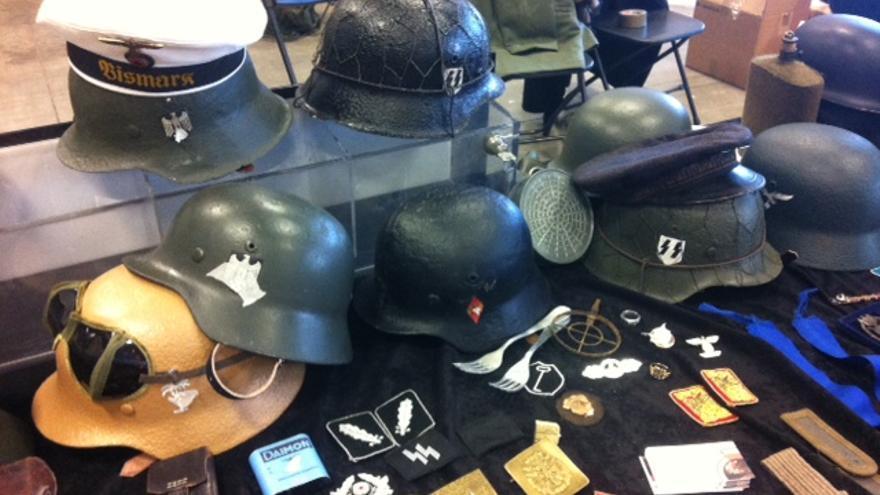 Algunos de los objetos en Militaria