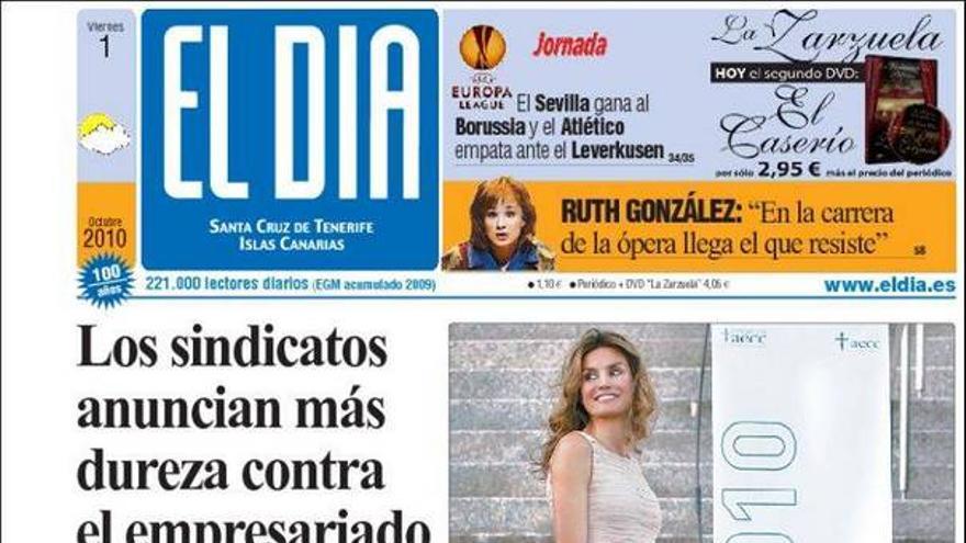 De las portadas del día (01/10/2010) #2