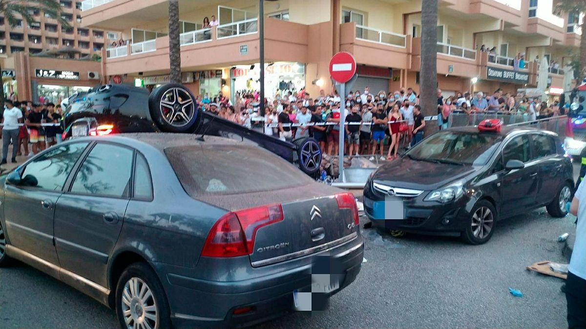 Accidente en el que resultó atropellado un ciclista cordobés en Fuengirola