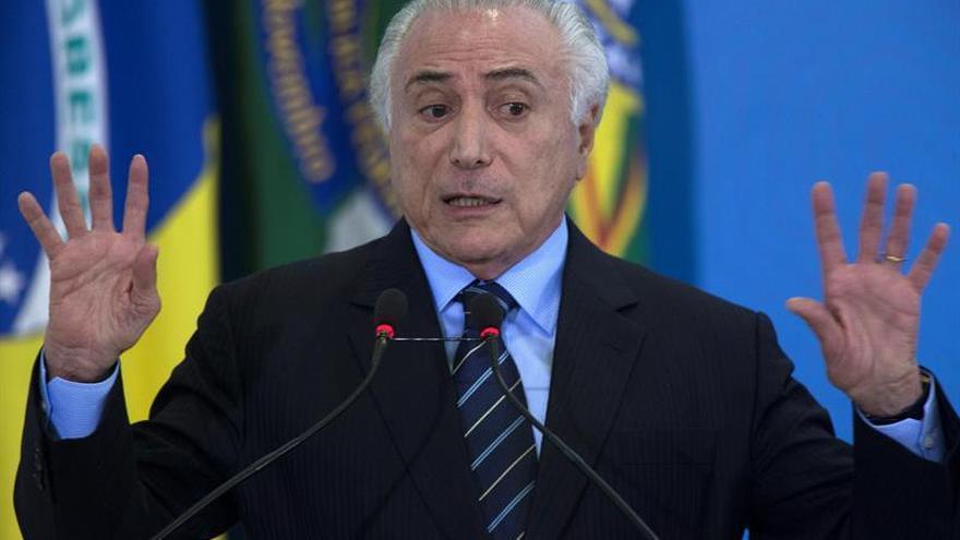 Pleno de los diputados de Brasil decidirá la suerte de Temer el 2 de agosto