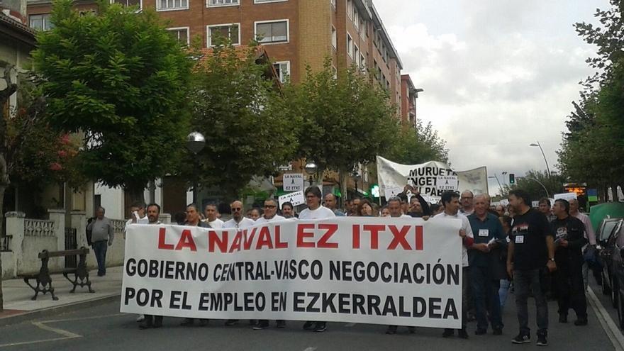 Trabajadores de La Naval piden a Gobierno central y vasco un plan industrial que garantice la viabilidad del astillero