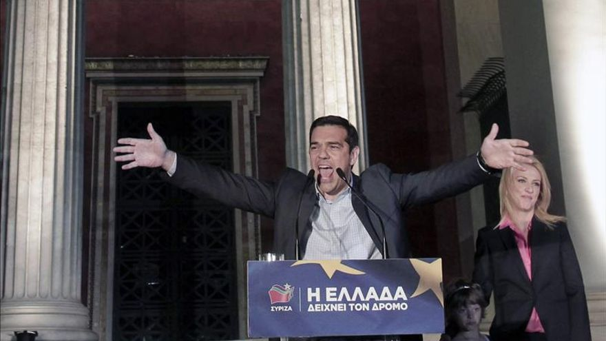 El líder de Syriza tras su victoria en las elecciones europeas. / Foto: EFE