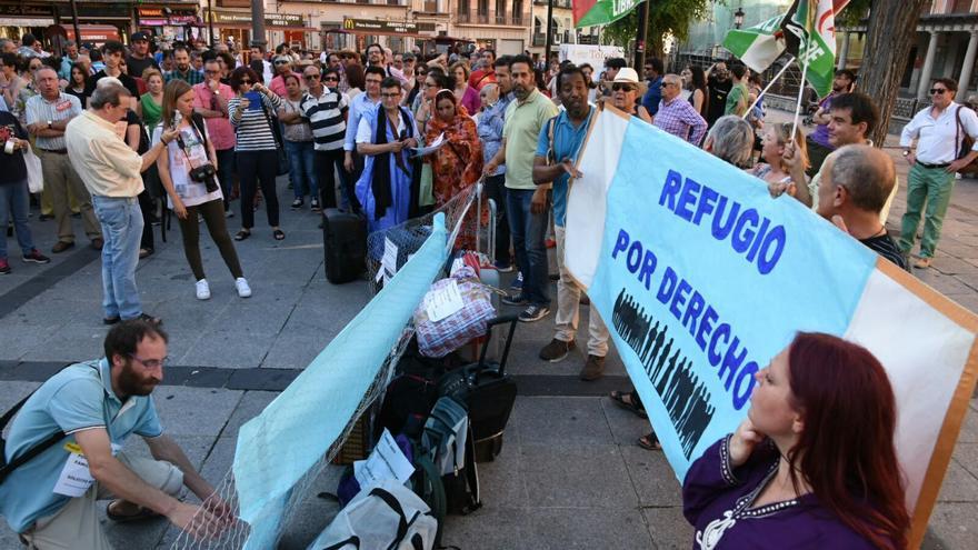 Manifestación de apoyo a los refugiados en Toledo / Julio López Espeso