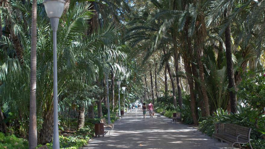 El Paseo de España atraviesa de punta a punta el Parque de Málaga.