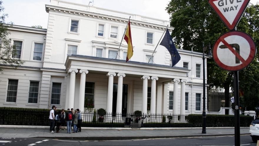 El consulado español en Londres.