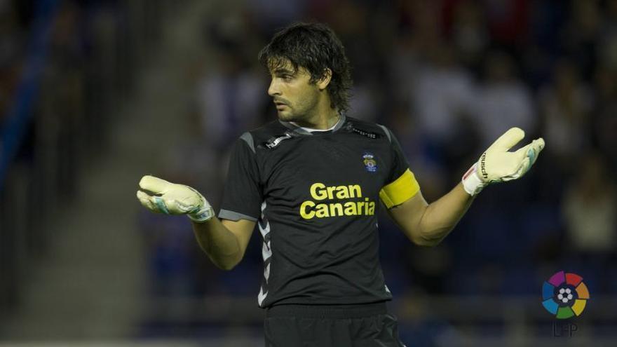 Mariano Barbosa durante el partido que disputaron en El Toralín la SD Ponferradina y la UD Las Palmas. LPF
