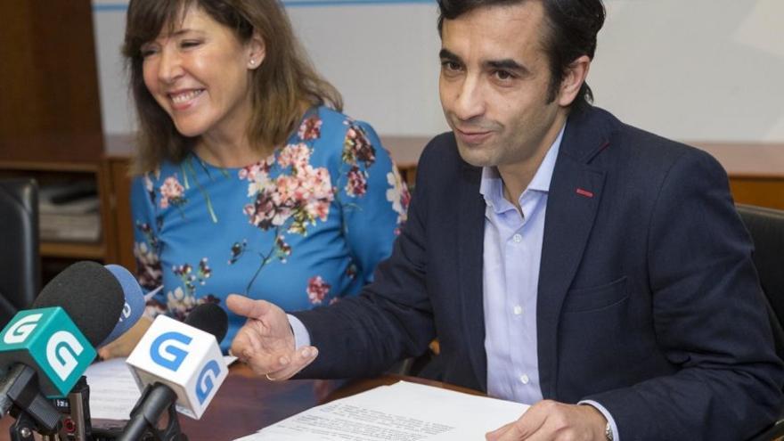 Beatriz Mato y José Manuel Rey Varela, candidatos del PP en A Coruña y Ferrol, cuando eran conselleiros de Feijóo