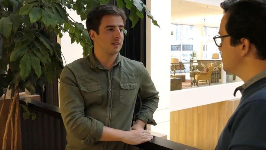 Kintxo Cortés, durante la entrevista concedida a Nexo