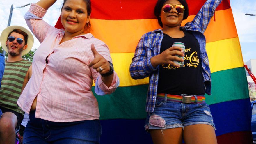 Manifestación por la diversidad en Nicaragua. Imagen de Milagros Guadalupe Romero.