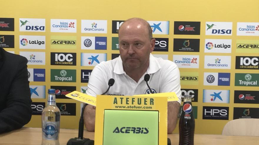 El entrenador de la UD Las Palmas, Pepe Mel.