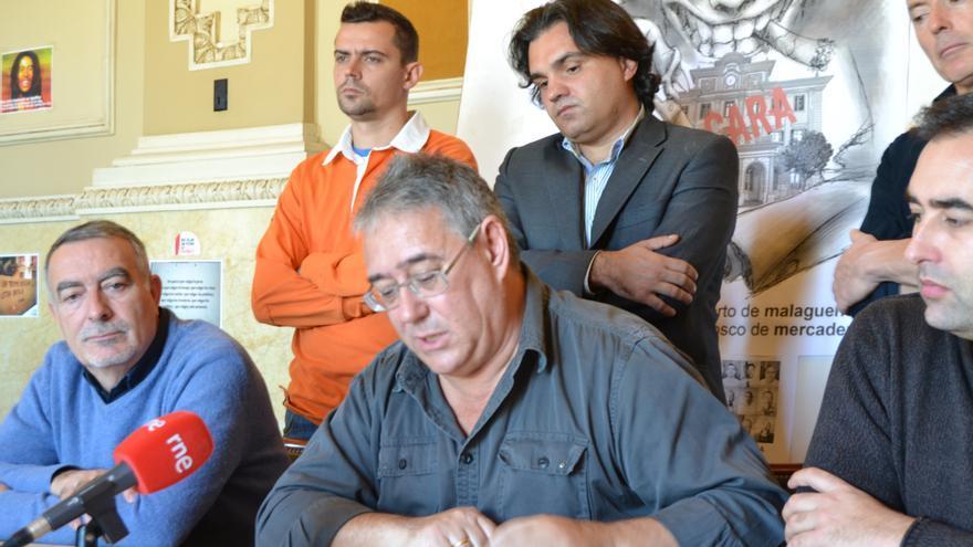 Juan Antonio Triviño, delegado sindical de UGT en el Puerto de Málaga inicia una huelga de hambre