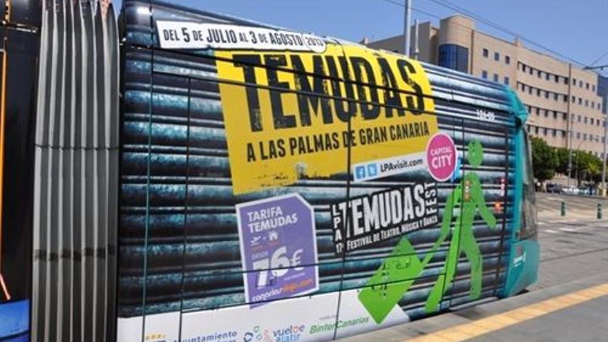 Cartel promocional de una edición anterior del Temudas Fest.