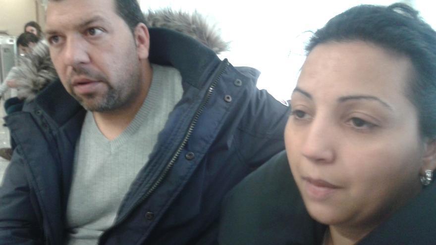 Eva y Arturo, una de las familias con desahucio inminente.