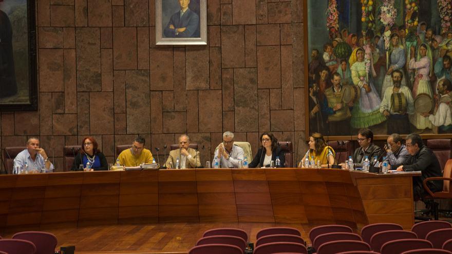 Momento del pleno celebrado hoy en la sede del Cabildo Insular de La Gomera
