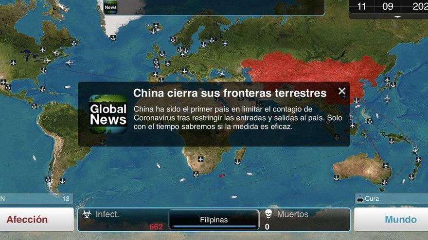 Captura del juego 'Plague Inc.'