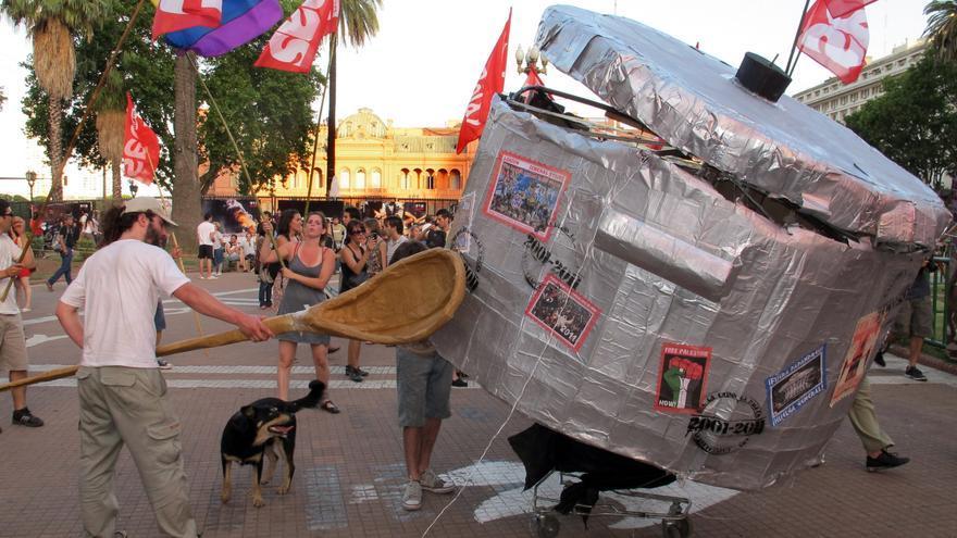 Multitudinarias protestas en Argentina contra el Gobierno de Fernández