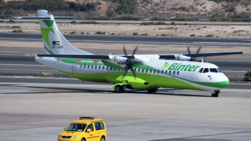 Avión de la aerolínea de capital canario Binter