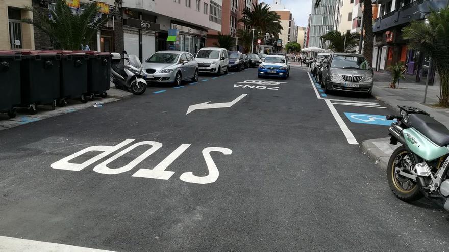 Abierta la intersección al tráfico de la calles Fernando Guanarteme, Nicolás Estévanez y Veintinueve de Abril.