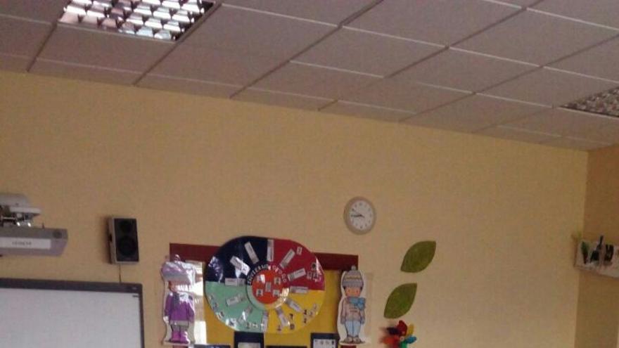 Aulas vacías en un colegio del barrio de San Blas, en Madrid.