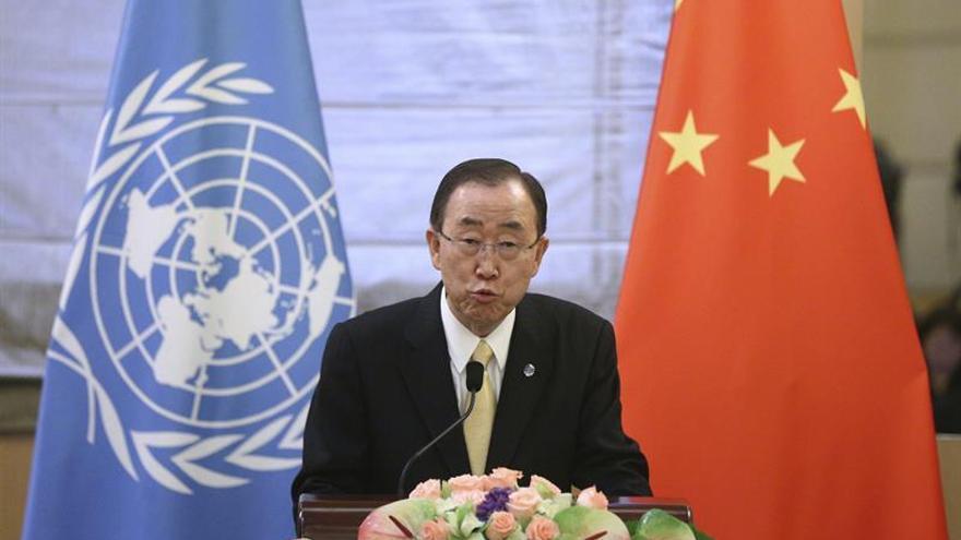 """Ban Ki-moon anima a China """"a crear un espacio para la sociedad civil"""""""