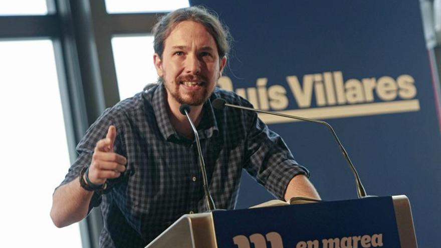 """Iglesias vuelve a reivindicar en Galicia el tono """"más duro"""" de Podemos"""