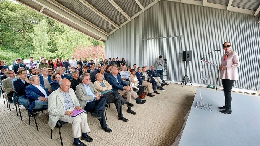 """Barkos, """"satisfecha"""" de que Navarra """"se convierta en un foro internacional"""" en materia de arquitectura sostenible"""