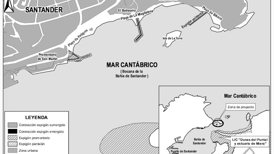 Inforgrafía del proyecto que se llevará a cabo en la Bahía de Santander.
