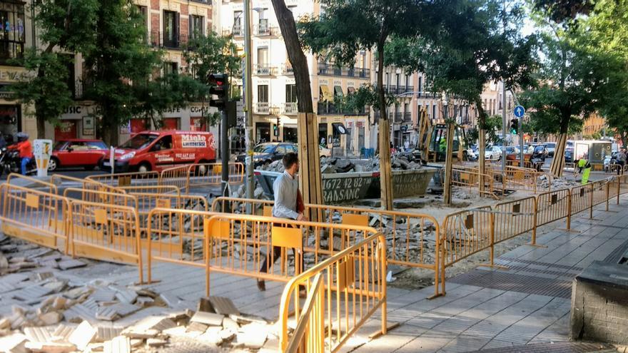 Obras de entrada a Madrid Central en la calle San Bernardo   SOMOS MALASAÑA