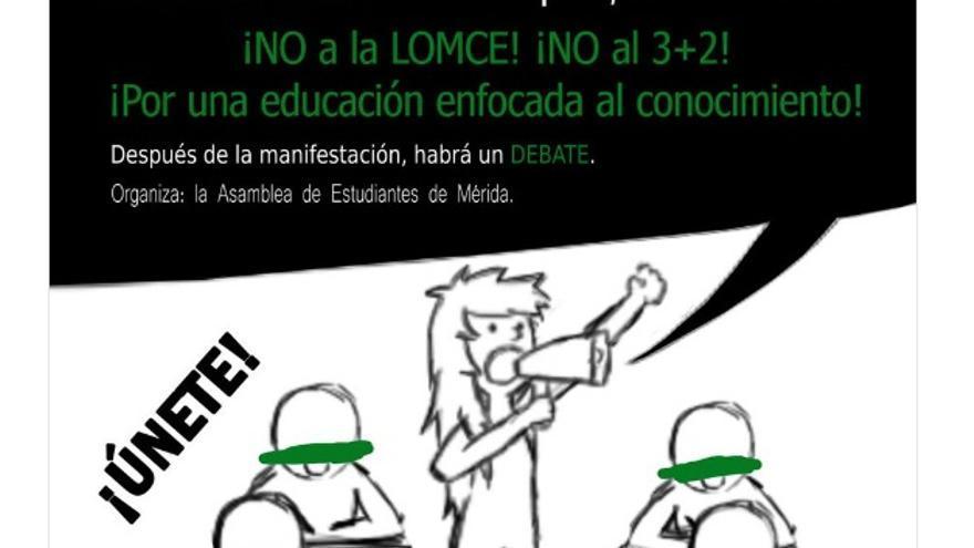 Actos organizados por la Asamblea de Estudiantes de Mérida