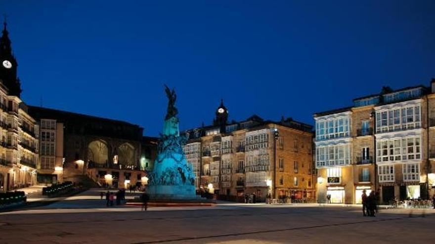Plaza de Virgen Blanca, en el centro de Vitoria
