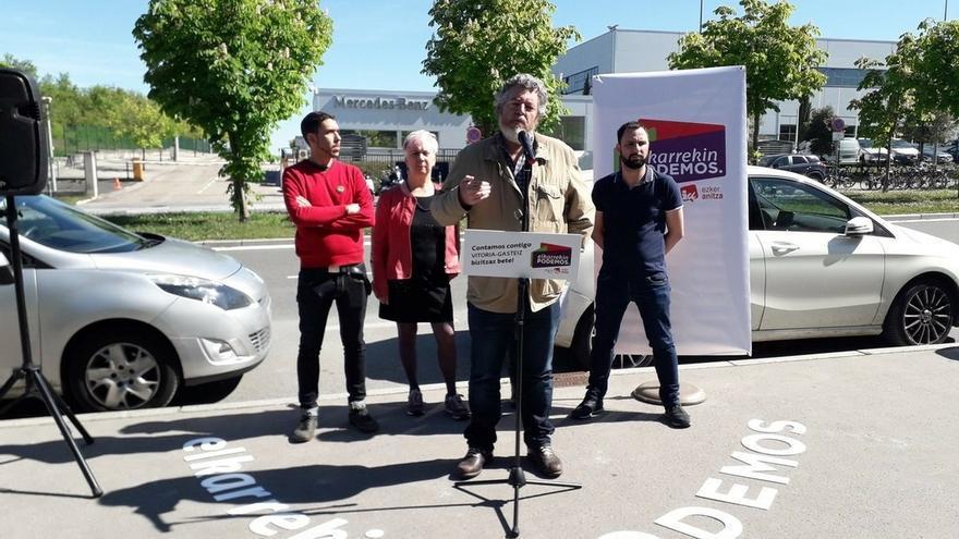 """E-Podemos reivindica en Vitoria una """"transición justa"""" de la industria del automóvil que """"garantice"""" el empleo"""