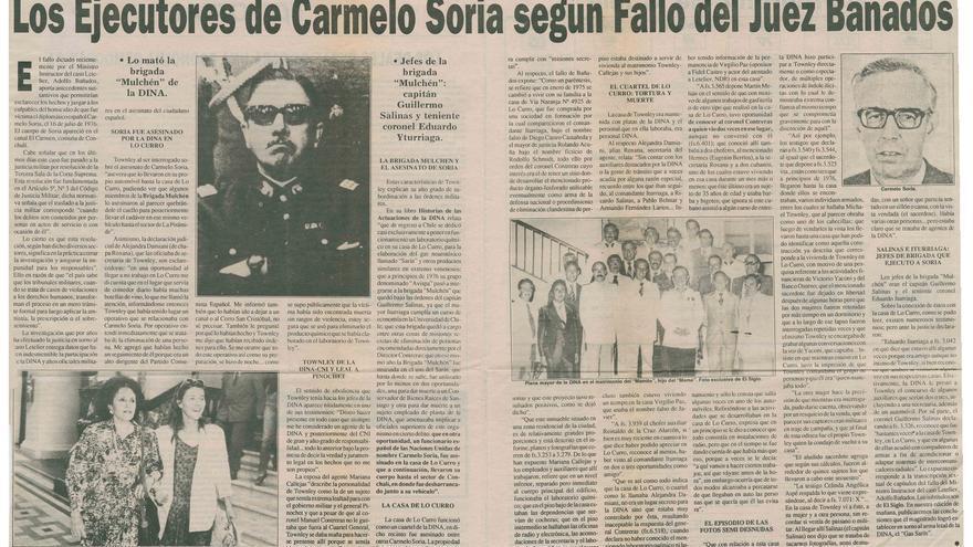 Chile lamenta 45 años sin Soria, diplomático español asesinado por Pinochet