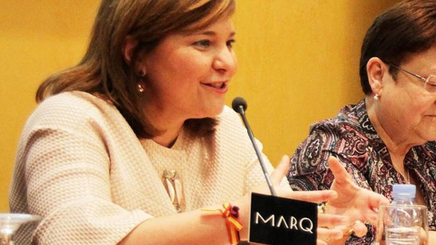 La consellera de Infraestructuras, Isabel Bonig