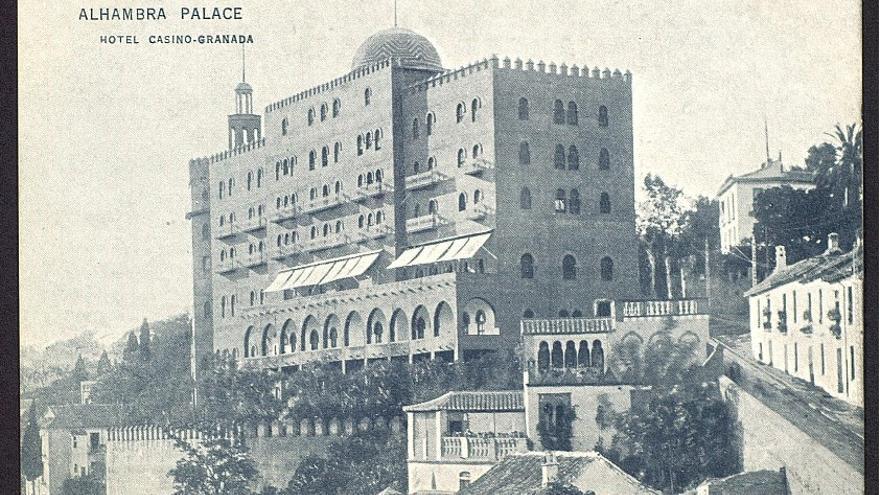 El hotel, en 1910.