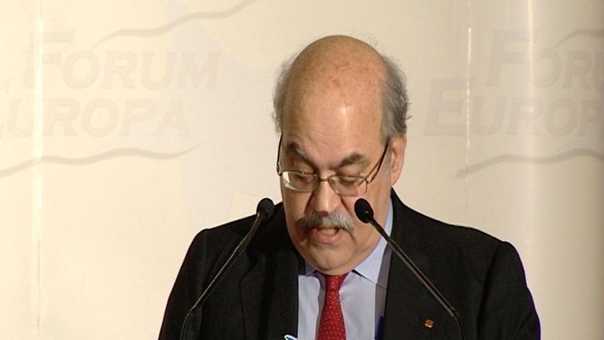 """Mas-Colell advierte al Gobierno de que si mantiene su """"línea extrema"""" con Cataluña, esta """"tendrá un Estado propio"""""""