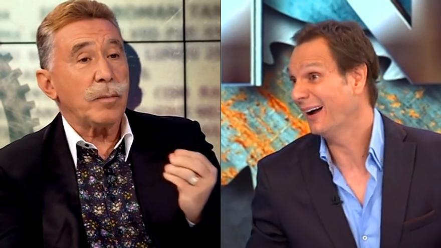 El abogado de Cárdenas, García-Montes, y el presentador durante el programa Hora Punta en TVE