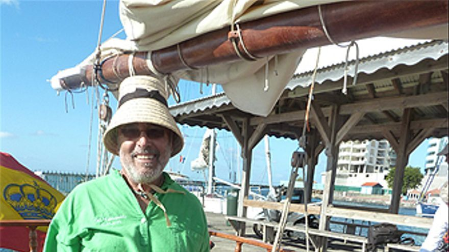 Pedro de Armas a bordo del 'Cabo Andrés'. (GRAND PRIX ATLÁNTICO)