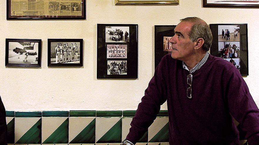Arturo Tuzón, en el Trinquet Pelayo