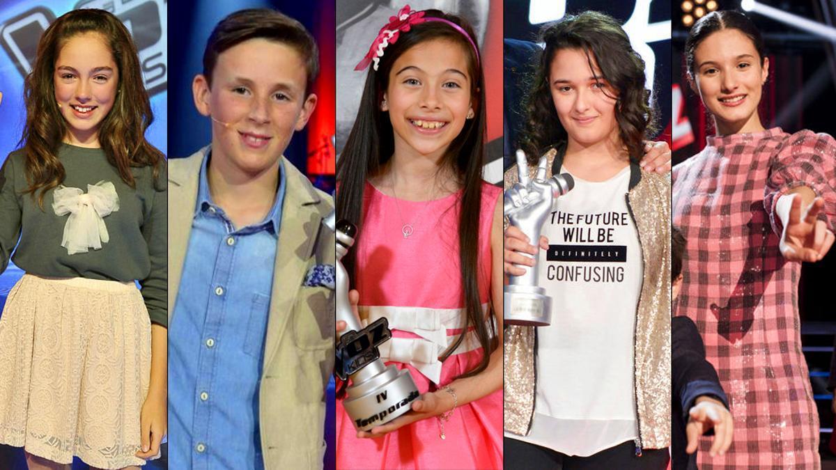 Ganadores de 'La Voz Kids' en España