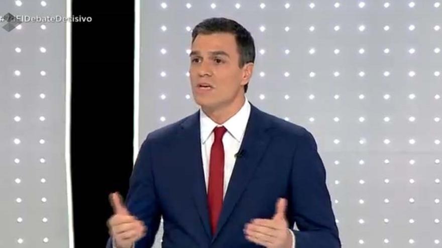 Pedro Sánchez cree que ganó el debate e insiste en que para que haya cambio tiene que ganar por un voto