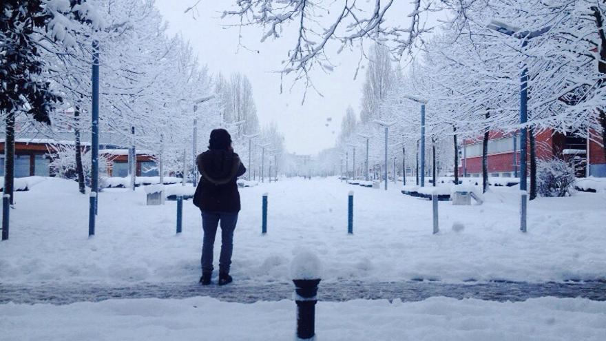 La nieve es la protagonista del temporal.