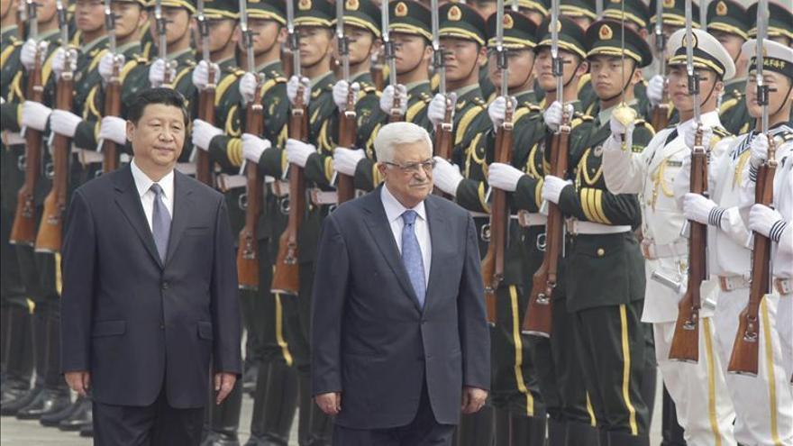 """El presidente chino alaba a Abás como líder que eligió """"la opción estratégica de la paz"""""""