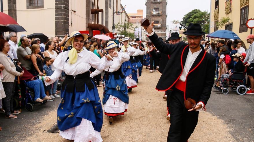 Magos bailando durante la Romería de San Benito Abad, en La Laguna